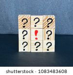 many question marks written on... | Shutterstock . vector #1083483608
