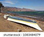 od boat at embankment in dahab  ...   Shutterstock . vector #1083484079
