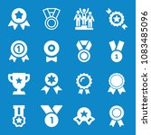 set of 16 award filled icons... | Shutterstock . vector #1083485096