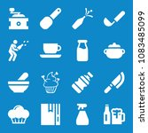 set of 16 food filled icons... | Shutterstock . vector #1083485099