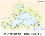 lake superior drainage basin vector map