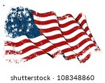 usa betsy ross flag grunge | Shutterstock . vector #108348860
