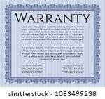 blue formal warranty certiblue... | Shutterstock .eps vector #1083499238