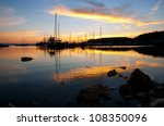 a beautiful sunset over the... | Shutterstock . vector #108350096