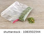folded bag of synthetic... | Shutterstock . vector #1083502544