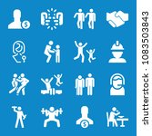set of 16 people filled icons... | Shutterstock .eps vector #1083503843
