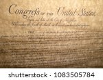 bill of rights united states...   Shutterstock . vector #1083505784