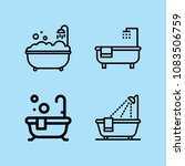 set of 4 bath outline icons... | Shutterstock .eps vector #1083506759