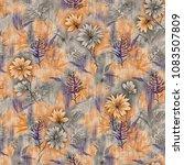 fabric texture floral... | Shutterstock . vector #1083507809