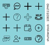 set of 16 button outline icons... | Shutterstock .eps vector #1083511940