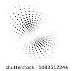 halftone dots wave background ... | Shutterstock .eps vector #1083512246