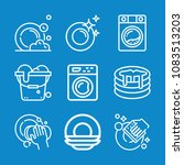 set of 9 cleaning outline icons ...   Shutterstock .eps vector #1083513203