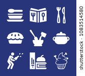 set of 9 food filled icons such ...   Shutterstock .eps vector #1083514580