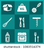 set of 9 tools filled icons... | Shutterstock .eps vector #1083516374