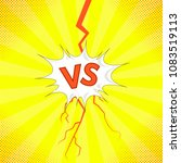 vector concept of confrontation ... | Shutterstock .eps vector #1083519113