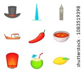mysterious world icons set.... | Shutterstock .eps vector #1083519398