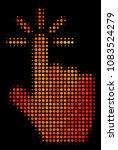 pixelated click icon. bright...