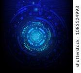 vector digital technology... | Shutterstock .eps vector #1083524993