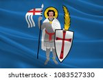 flag of eisenach is a town in...   Shutterstock . vector #1083527330