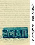 Small photo of e-mail written in lead letters