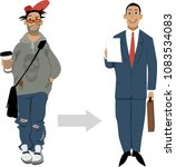 preparation to a job interview... | Shutterstock .eps vector #1083534083