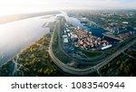 aerial panorama of port of... | Shutterstock . vector #1083540944