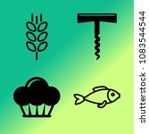 vector icon set about kitchen... | Shutterstock .eps vector #1083544544
