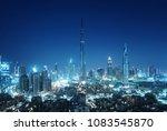 dubai skyline  united arab... | Shutterstock . vector #1083545870