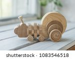 wooden toys  wooden plane and... | Shutterstock . vector #1083546518