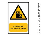 chemical storage area symbol ... | Shutterstock .eps vector #1083552173