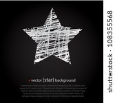 white drawn vector star on... | Shutterstock .eps vector #108355568