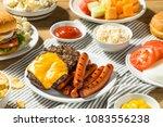 memorial day backyard babecue...   Shutterstock . vector #1083556238