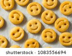 homemade smiley face french... | Shutterstock . vector #1083556694