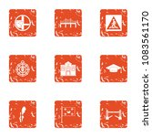 avenue icons set. grunge set of ... | Shutterstock .eps vector #1083561170