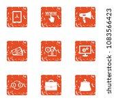 www cash icons set. grunge set...   Shutterstock .eps vector #1083566423