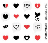 simple heart icon colection... | Shutterstock . vector #1083567443