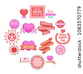 mother day icons set. cartoon... | Shutterstock .eps vector #1083570779