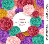 happy mother's day layout... | Shutterstock .eps vector #1083576908