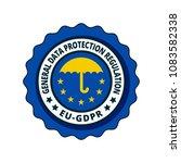 eu gdpr label illustration | Shutterstock .eps vector #1083582338