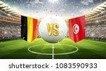 belgium vs tunisia. soccer... | Shutterstock . vector #1083590933