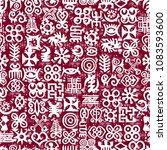 african adinkra pattern   red... | Shutterstock .eps vector #1083593600