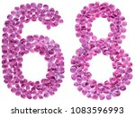 arabic numeral 8  sixty eight ... | Shutterstock . vector #1083596993