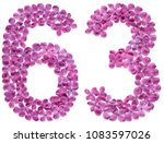 arabic numeral 63  sixty three  ... | Shutterstock . vector #1083597026