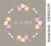 vintage floral card for...   Shutterstock .eps vector #1083601109