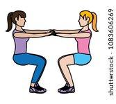 color women doing squarts...   Shutterstock .eps vector #1083606269
