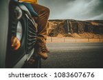 explorer on the icelandic tour  ... | Shutterstock . vector #1083607676