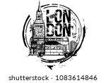 london bus  big ben. london ... | Shutterstock .eps vector #1083614846