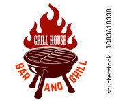 grill house. bbq illustration... | Shutterstock .eps vector #1083618338