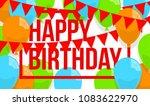happy birthday vector... | Shutterstock .eps vector #1083622970