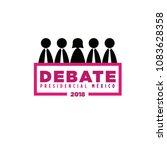 presidential debate. elections... | Shutterstock .eps vector #1083628358
